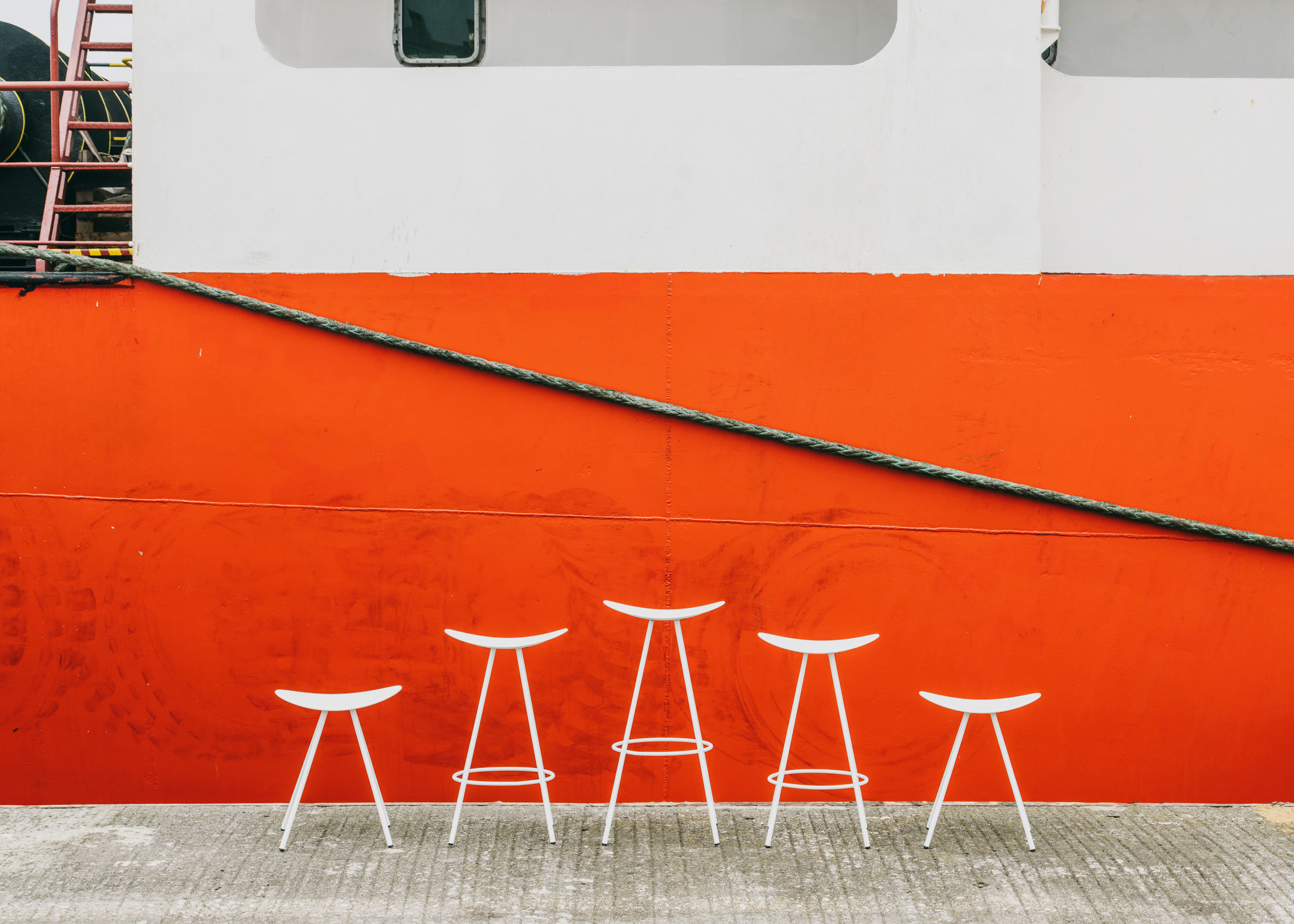 #furniture #enea #design #clase #basque #boat #red