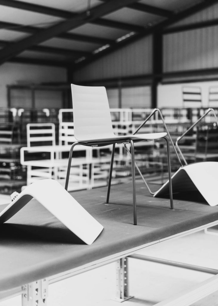 #furniture #andreuworld #valencia #design #emeyele #bw #industrial #factory #chairs