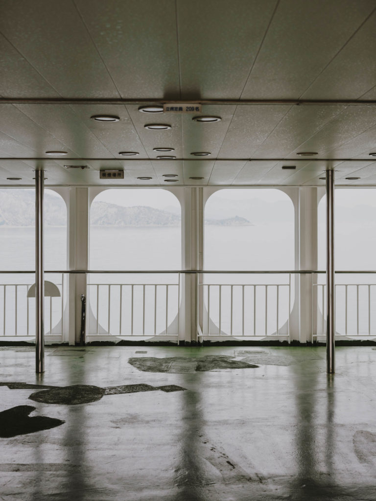 #japan #boat #ferry #teshima #interiors