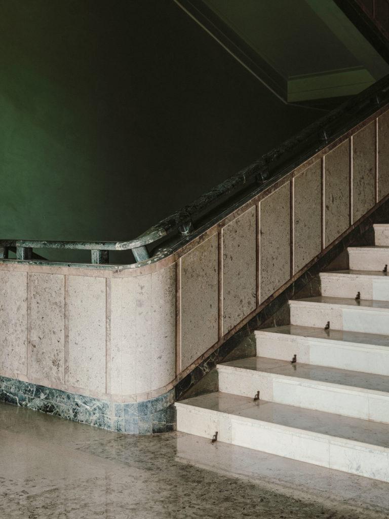 #kinfolk #india #morvi #palace #artdeco #stairs