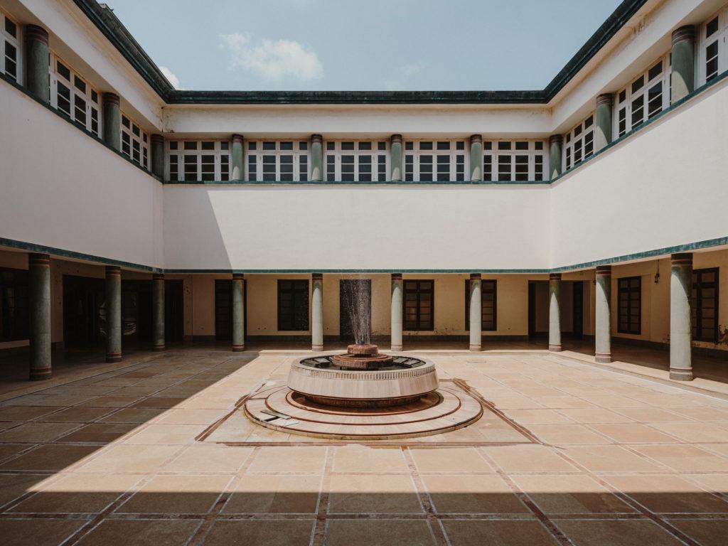 #kinfolk #india #morvi #palace #artdeco #patio #architecture