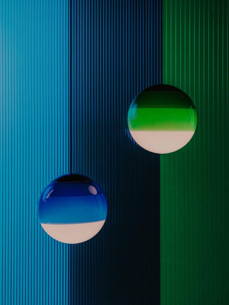 #marset #lighting #stilllife #youngtalents #folch #artdirection #set #green #blue #dippinglight