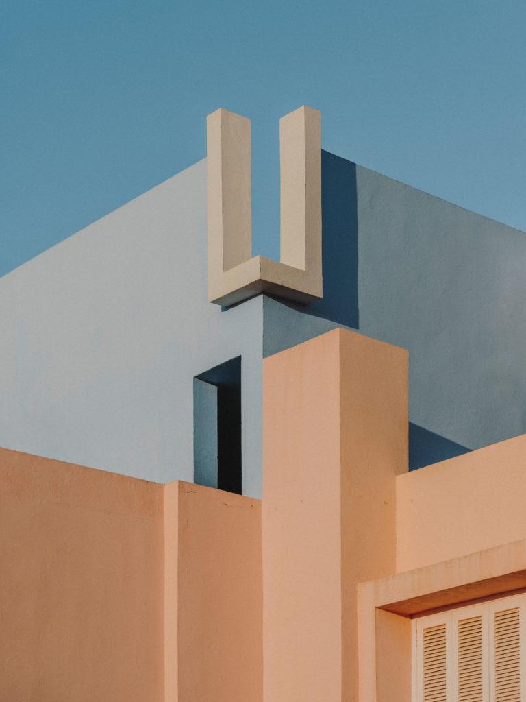 #xanadu #murallaroja #gestalten #visionsofarchitecture #bofill #calpe #valencia #spain #architecture #blue #pale