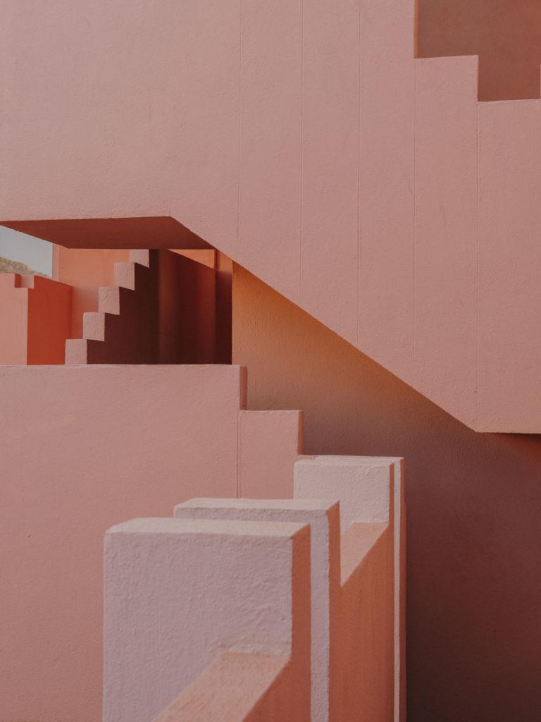 #xanadu #murallaroja #gestalten #visionsofarchitecture #bofill #calpe #valencia #spain #architecture #pink #stairs