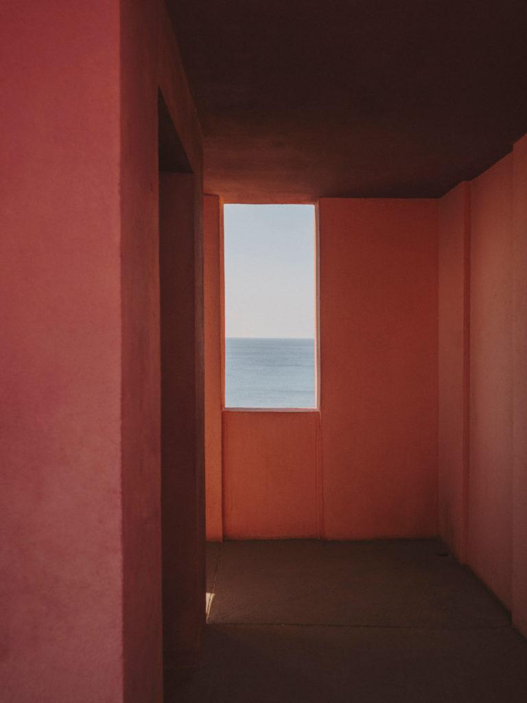 #xanadu #murallaroja #gestalten #visionsofarchitecture #bofill #calpe #valencia #spain #stairs #window #mediterranean #sea