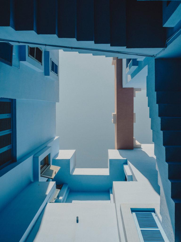 #xanadu #murallaroja #gestalten #visionsofarchitecture #bofill #calpe #valencia #spain #blue #stairs