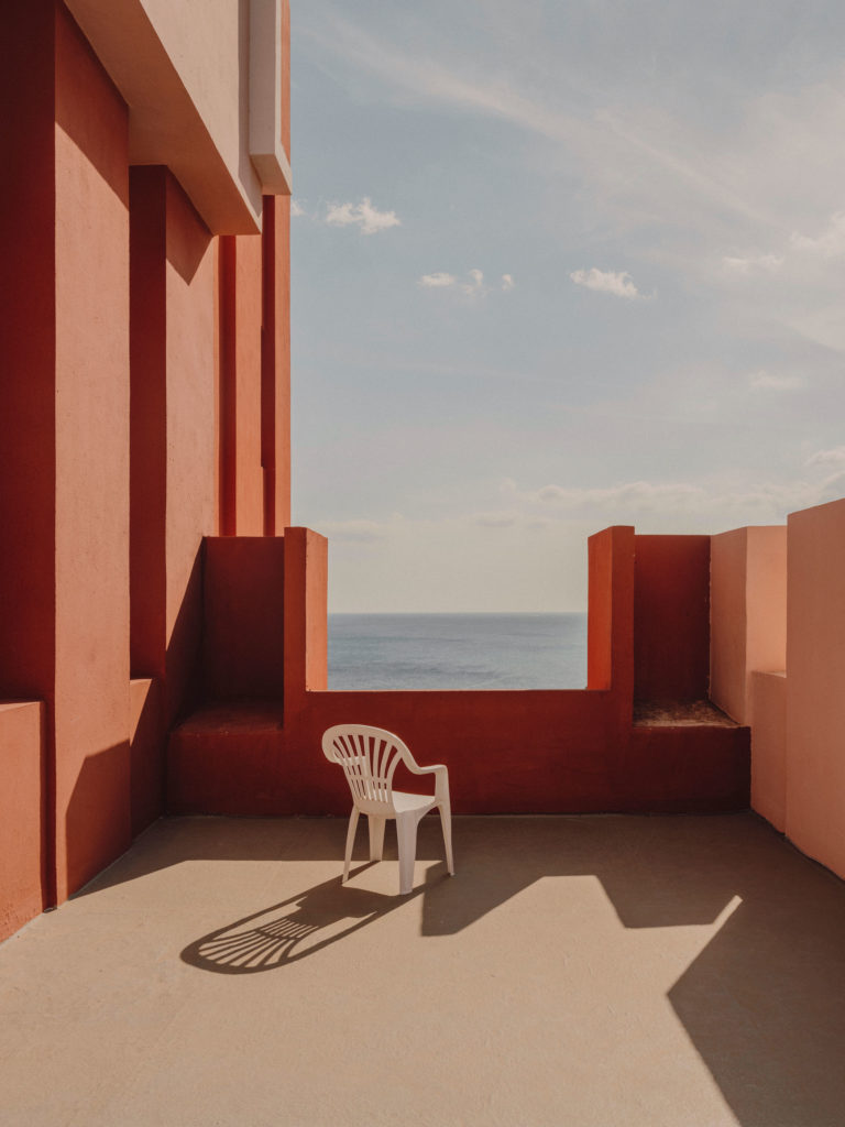 #xanadu #murallaroja #gestalten #visionsof #architecture #bofill #calpe #valencia #spain #pink #chair #mediterranean