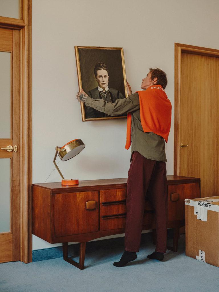 #aspesi #fashion #milan #orange #interiors
