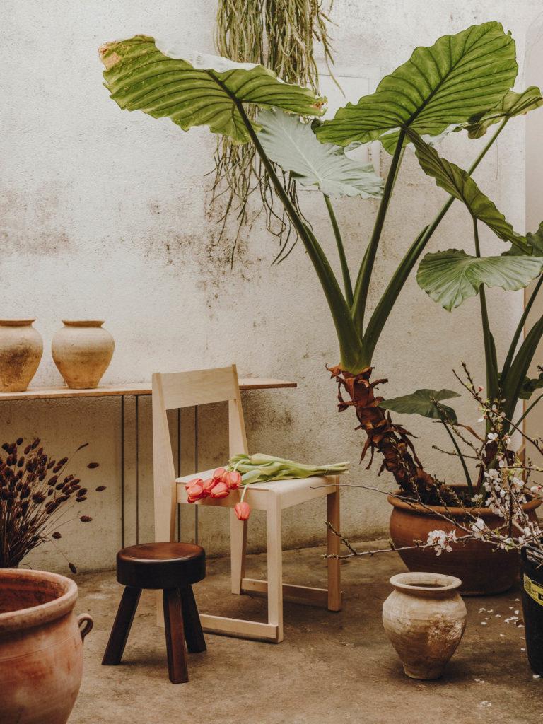 #frama #interiors #furniture #alblanc #andrewtrotter #chairs #plants